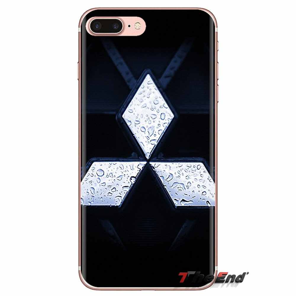 Coque Transparente doux Couvre Pour Huawei Compagnon D'honneur 4C 5C 5X6X7 7A 7C 8 9 10 8C 8X20 Lite Pro Mitsubishi Moteurs De Voiture Logo
