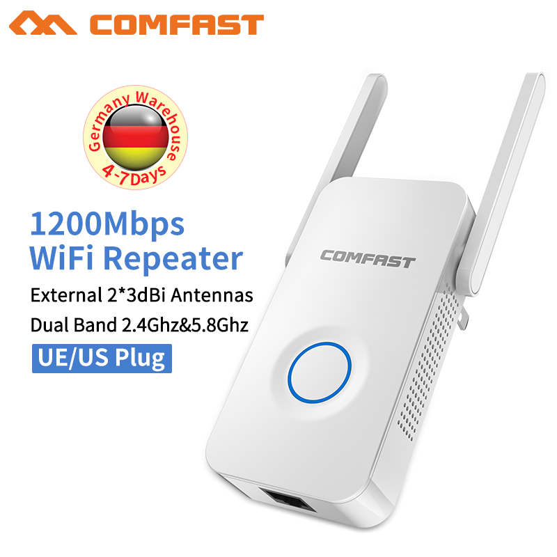 Wireless N Wifi Repeater Long Range 1200M Roteador Wireless Dual Band wifi Extender wifi repeater Wi-fi Range Router for soho tenda a301 wireless range extender