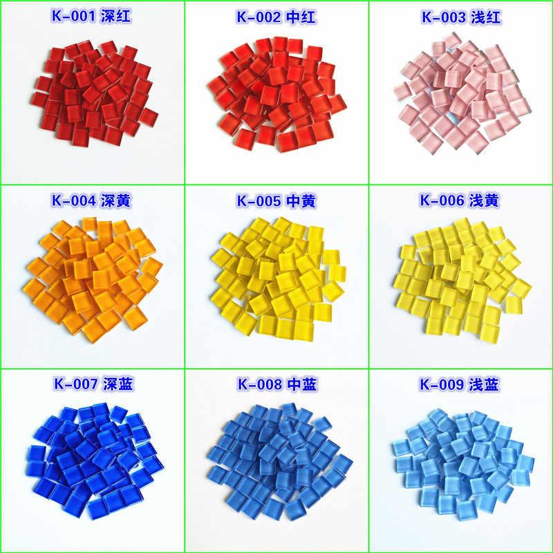 300 г/лот 10*10 мм забавные квадратное чистое стекло мозаичная плитка для DIY мозаика Babys головоломка Pieducational игрушка montessori ремесла наборы инструментов