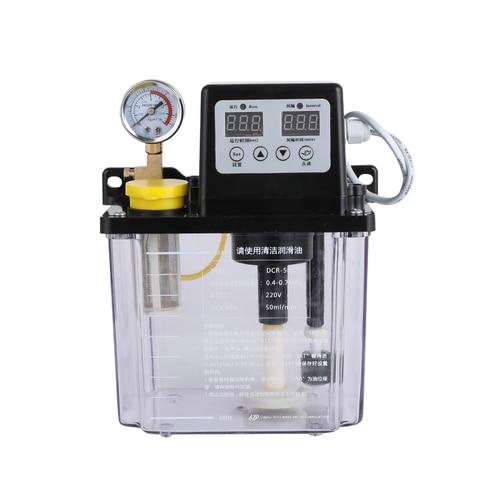 Bomba de Óleo Bomba de Lubrificação Eletromagnética Automática Dupla Display Digital Torno Oiler 1l – 2l y 220 v