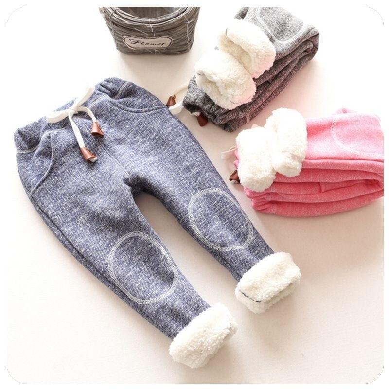 2018 בנות חם מכנסיים חורף יילוד תינוק אלסטי מכנסיים מזדמנים עבור בנות תינוקות סתיו ספורט תינוק מכנסיים פעוט בגדים