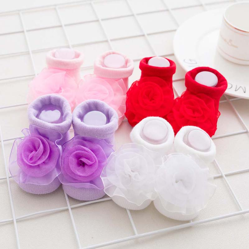 0-1 Jahr Neugeborenen Baby Baumwolle Socken Spitze Prinzessin Gekämmte Baumwolle Socken Für Mädchen Sommer Frühling Infant Babe Socken Hochwertige Materialien