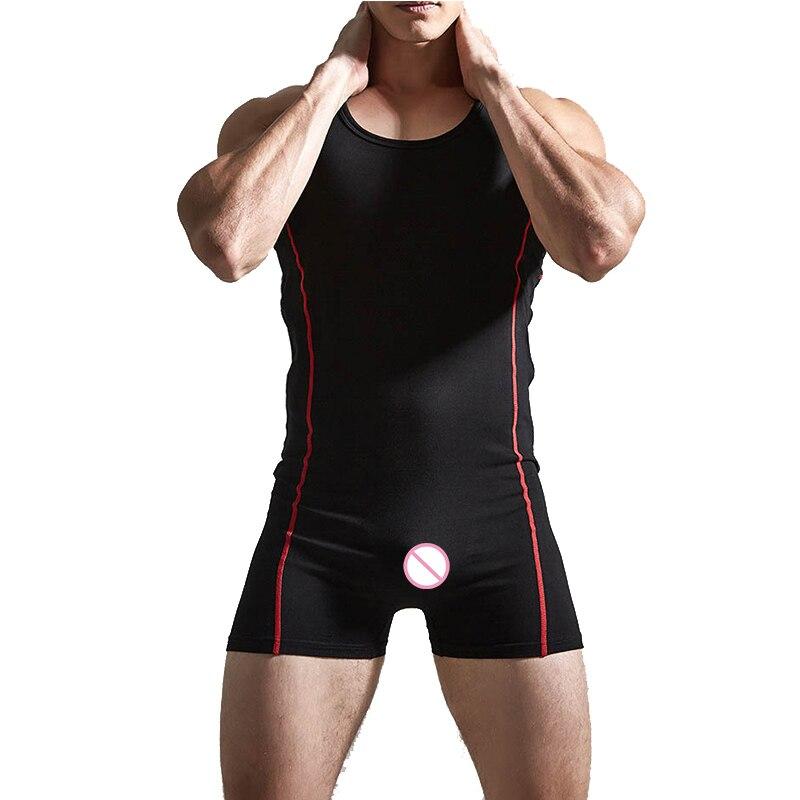 Multi Color Mens Leotard Underwear Sexy Men Bodysuit Sleeveless Jumpsuit Shaper One Piece Vest Clothing Lingerie Pluse Size