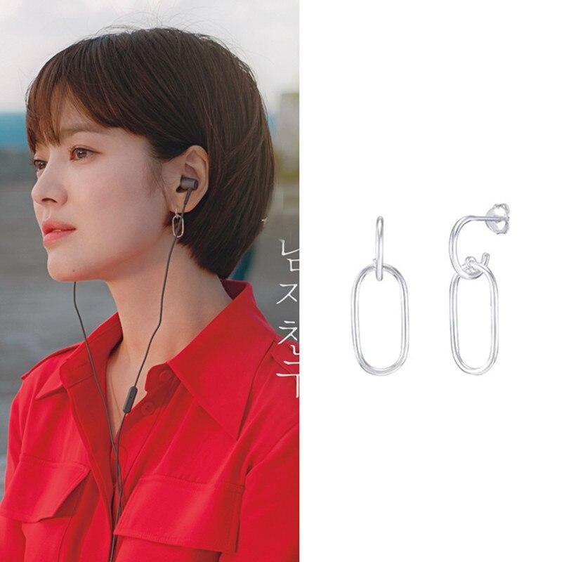 Korean Drama Encounter Boyfriend Song Hye Kyo Earrings 925 Sterling Silver earrings