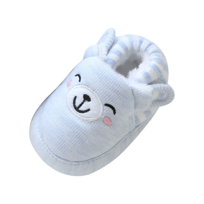 1 Pair Winter New Boys And Girls Warm Casual Shoes Bear Face Warm Baby Toddler Shoes j4