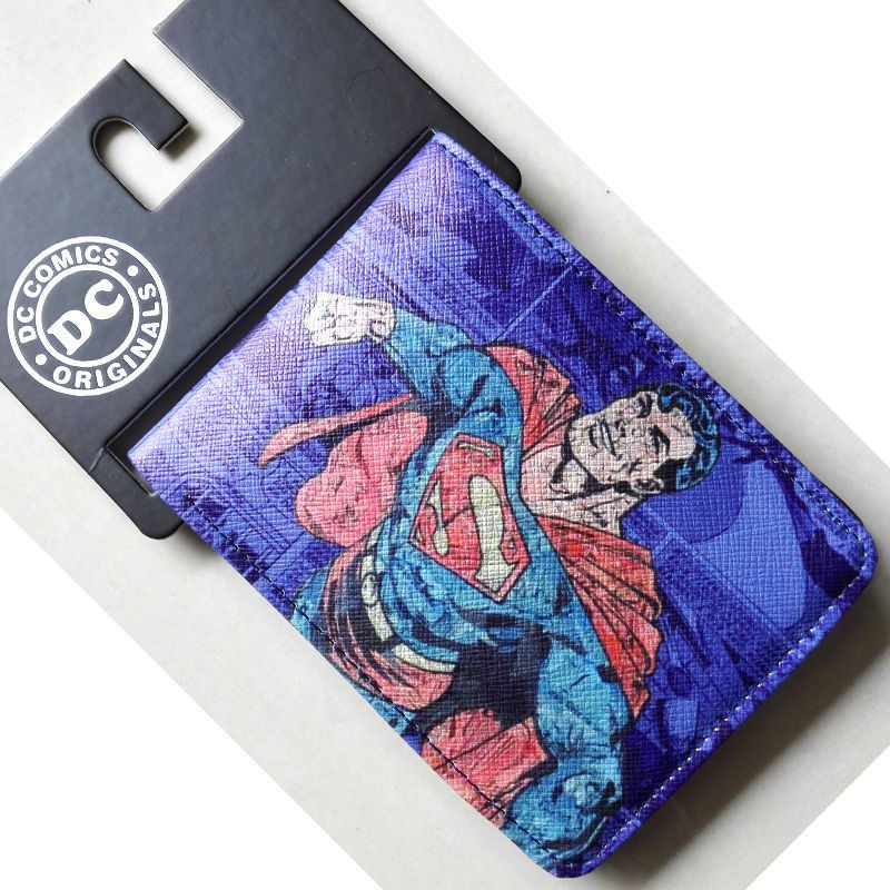 Comics DC Marvel Superman Purse Leather Wallet Men Super Hero porte monnaie Card Bags 4.5 inh Best Gift for Kids Children футболка с полной запечаткой для девочек printio панда