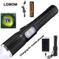 LOMOM 10 Вт 18650 Тактические Мощный Led Фонарик Для Велосипеда USB Набор Cree XM-L T6 Люмен Фонари Сигнальные Лампы Лампы Torche