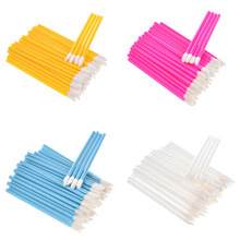 Hot Sale 50pcs Disposable MakeUp Lip Brush Lipstick Gloss Wands Applicator Multicolor Make Up Tool