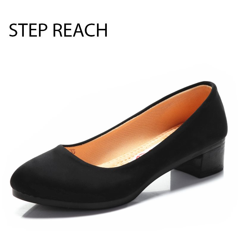 STEPREACH Brand shoes woman zapatos mujer women high heels pumps ladies basic mary janes rubber slip-on casual Black saltos vtota high heels thin heel women pumps ol pumps offical shoes slip on shoes woman platform shoes zapatos mujer ladies shoes g56