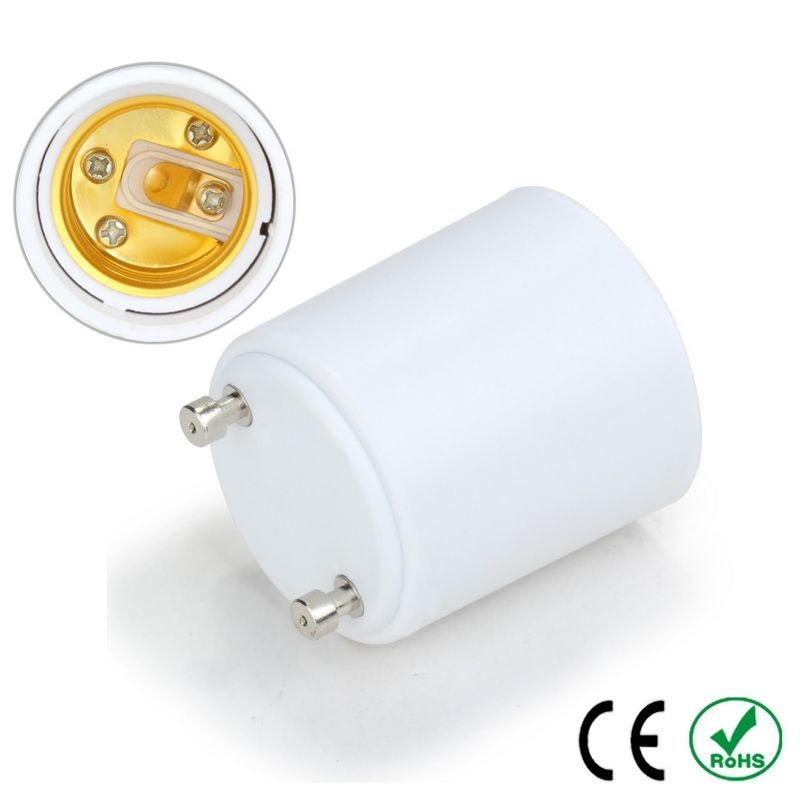 200pcs High Quality GU24 to E27 Adapter Lamp Holder Converter Lamp Base Socket Fireproof Copper LED Light Bulb Extender Plug
