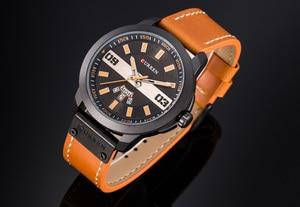 Image 2 - עסקי האופנה CURREN גברים שעונים עמיד למים שעון יד קוורץ זכר שעון Relogio Masculino שבוע תאריך התצוגה Montre Homme