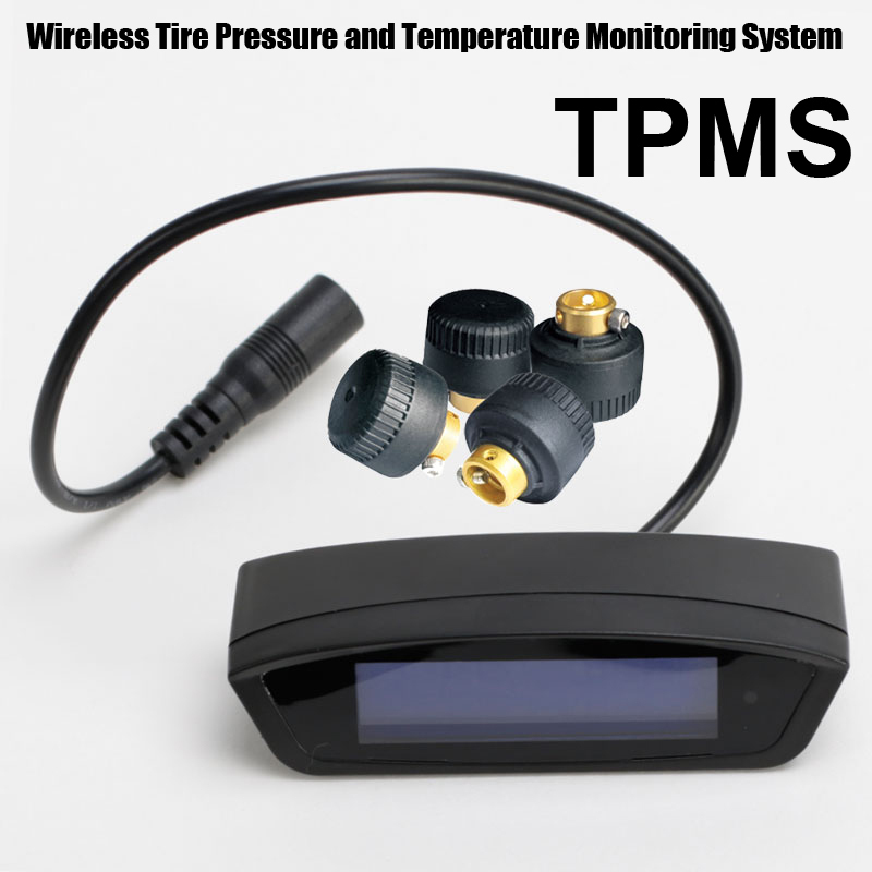 Tire Pressure Monitoring System Car TPMS with 4 pcs External Sensors high Low pressure high temperature warnings careud u903 wf tpms wireless tire pressure monitor with 4 external sensors
