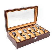 12 Grid Jewelry Box Solid Wood Environmental Lacquer Display Jewelry Box Storage Collection Case High Quality