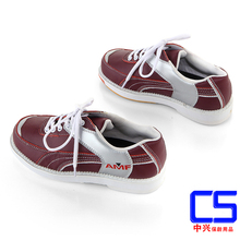 2016 New Arrival Noenname_null Men Rubber Lace-up Genuine Leather Rubber Cotton Fabric Bowling Shoes
