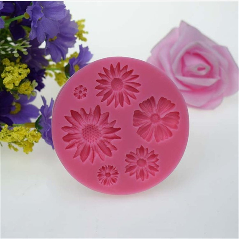 3D Flower Silicone Molds Fondant Craft Cake Candy Chocolate Sugarcraft Ice Pastry Baking Tool Mould Soap Mold Cake Decorator in Cake Molds from Home Garden