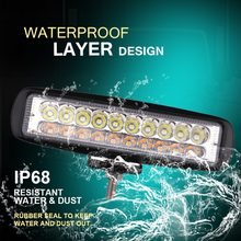 Barre lumineuse led de travail de 6 pouces 12 V, projecteur de type lampe, conduit de Brouillard, Nouveau