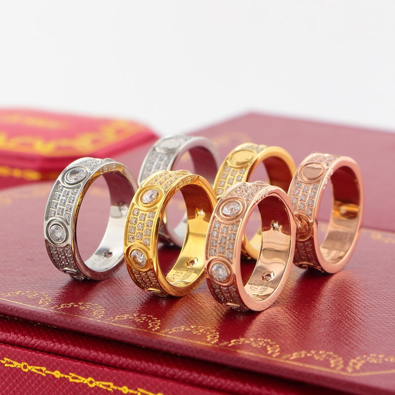 Hot sell Brand logo fashion 316L stainless steel carter LOVE ring full cz crystal wedding jewelry couple rings Eternal love ring handmade princess girls rainbow tutu dress tulle flower girl dresses for party and wedding kids birthday dresses robe enfant