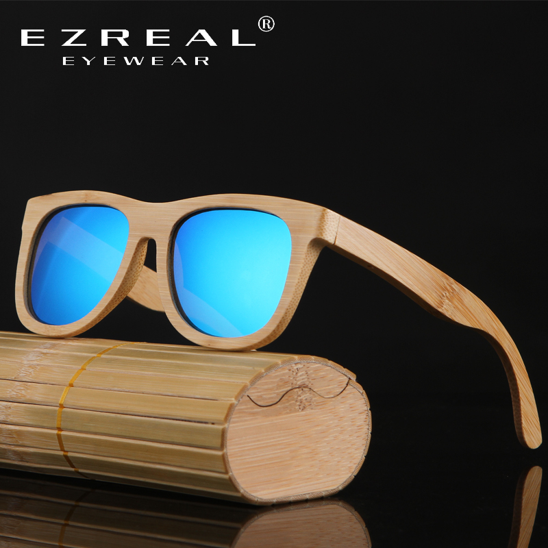 2016 TOP Brand Designer men wood Sunglasses New Polarized Blue Skateboard Wood sunGlasses Original Box Retro Vintage Eyewear