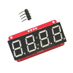 Image 4 - 4 ספרות 7 קטע 0.56 תצוגת LED צינור עשרונית 7 מגזרים HT16K33 I2C שעון כפול נקודות מודול עבור