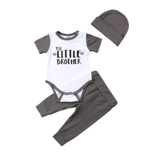 Pudcoco 3Pcs Newborn Infant Baby Boys Romper Bodysuit Pants Leggings Hat Outfit Boy Clothes Set new