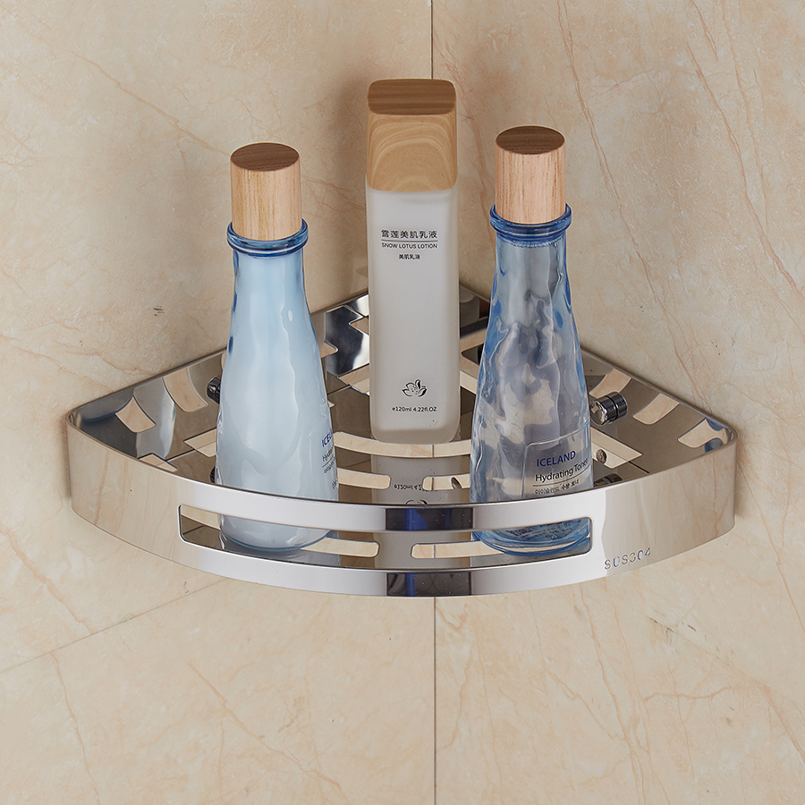 304 Stainless Steel Bathroom Shelves Wall Mounted Storage Basket Bathroom Accessories Towel Racks Bath Product Holder wall mounted golden crystal bathroom accessories crystal bathroom shelves of blue and white porcelain racks