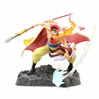 Anime One Piece WHITEBEARD Pirates Edward Newgate Battle Vs Sakazuki Gk Statue Action Figure Model Toys