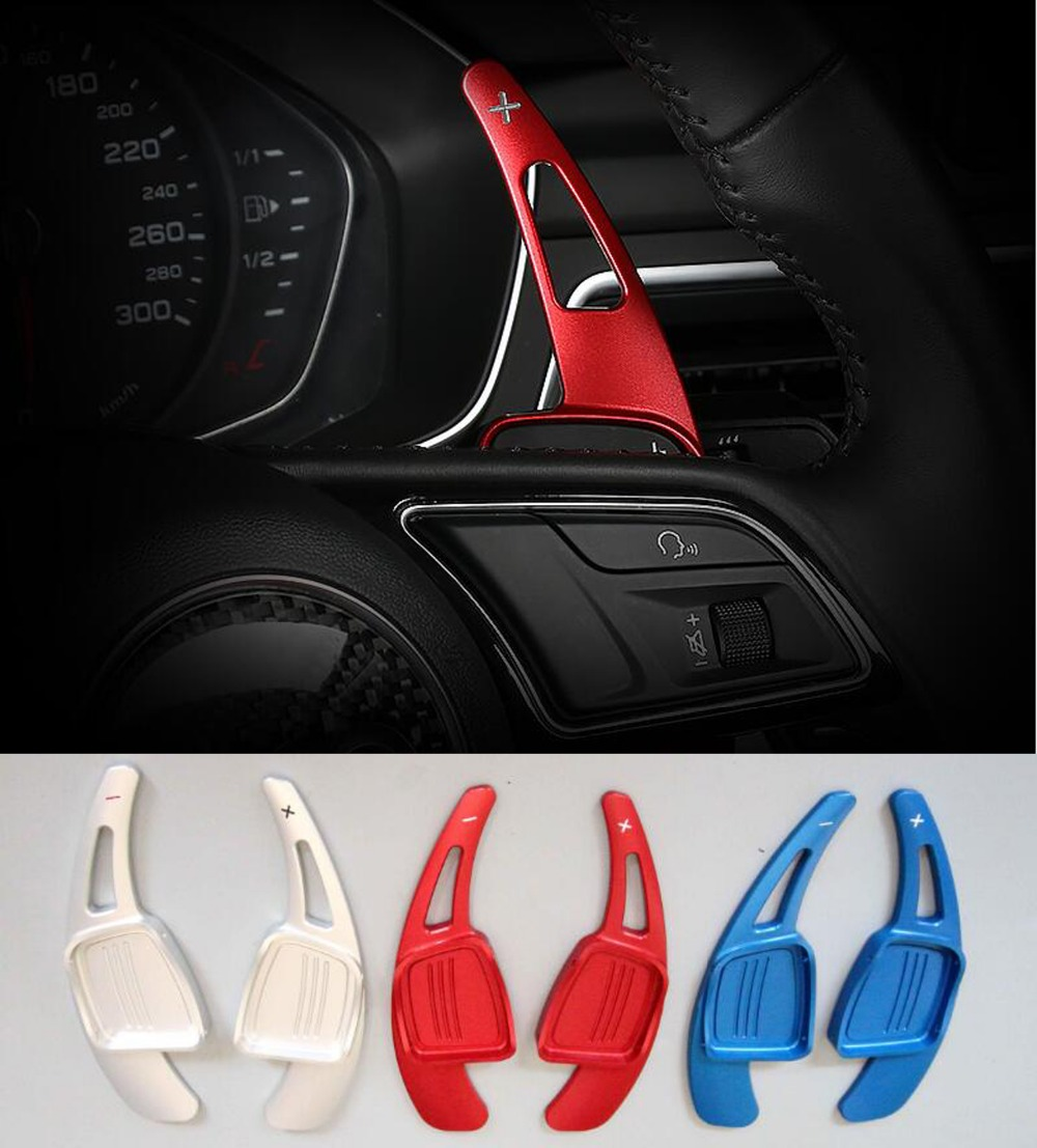DEE Aluminium Alloy steering wheel DSG paddle shifters for AUDI A3 A4L A5 A8 S3 S5