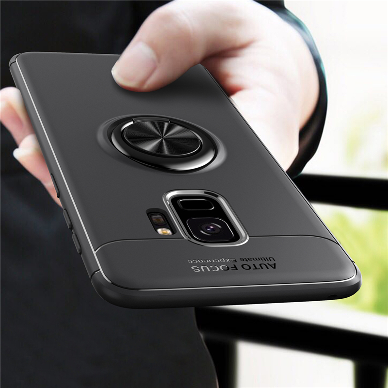 Car Holder Stand Magnetic Bracket Finger <font><b>Ring</b></font> TPU <font><b>Case</b></font> For SAMSUNG S10+ <font><b>Note</b></font> <font><b>9</b></font> S9+ S8 Plus A750 M10 M20 A10 20 30 40 50 70 Cover image