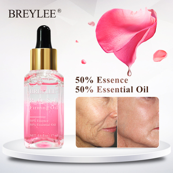 BREYLEE Rose Firming Essential Oils Anti Aging Lifting Facial Serum Moisturizer Essence Face Skin Care Wrinkle
