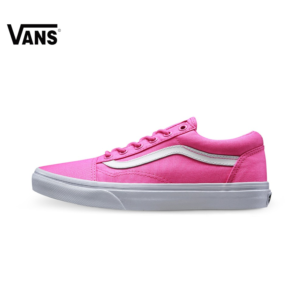 Original Vans New Arrival Pink Color Low-Top Women's Skateboarding Shoes Sport Shoes Sneakers free shipping vans wm realm backpack pink lady ph