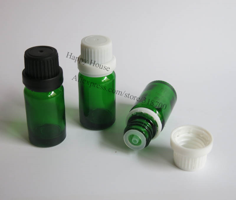 8e635a642d90 360x10 ml vidrio vacío Aceites botella con el casquillo de sabotaje  evidente