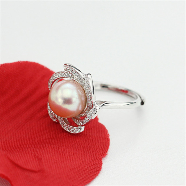 Genuine Freshwater Pearl 925 Sterling Silver Ring