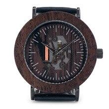 БОБО ПТИЦА Мода Роскошные Кварцевые Часы Мужчины Часы Повседневная Военная Кварцевые Часы Кожаный Ремешок Часы Мужские K18