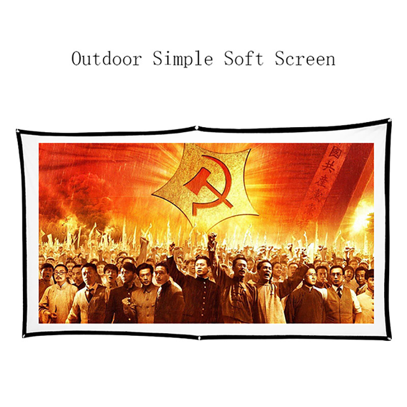 Thinyou Simple Soft Projector Screen 60 inch 16 9 Portable HD Home Cinema Theater Foldable Screen Canvas for Projector in Projection Screens from Consumer Electronics