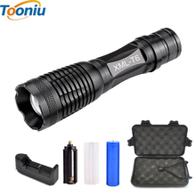 CREE XM-L2 T6 Bicycle Light 4500 Lumens Bike Light 7modes Torch Zoomable LED Flashlight +18650 Battery + Charger + Bicycle Clip
