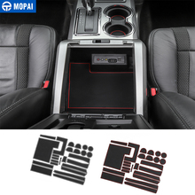 MOPAI Gate Slot Mat for Ford F150 2009+ Car Cup Mat Anti Non-slip Door Groove Mats Pad for Ford F150 2009-2014 Car Accessories стоимость