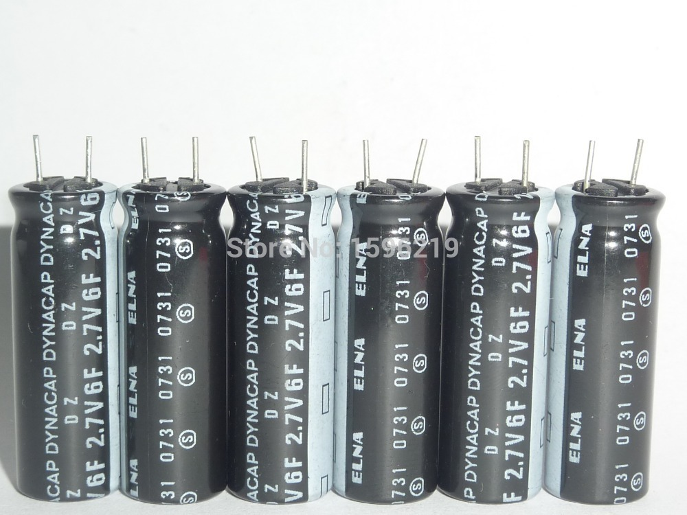 10pcs 6F 2.7V ELNA DZ Series 10x30mm 2.7V 6F Farad Super Capacitor For Power10pcs 6F 2.7V ELNA DZ Series 10x30mm 2.7V 6F Farad Super Capacitor For Power