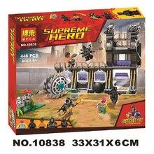 Купить с кэшбэком 10838 Marvel Avengers Infinity War Super Heroes Corvus Glaive Thresher Attack Building Block Brick Toy Compatible Legoings