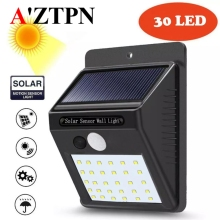 цены Solar LED PIR Motion Sensor Wall Light Waterproof Outdoor lamp for street Path Yard Garden Security