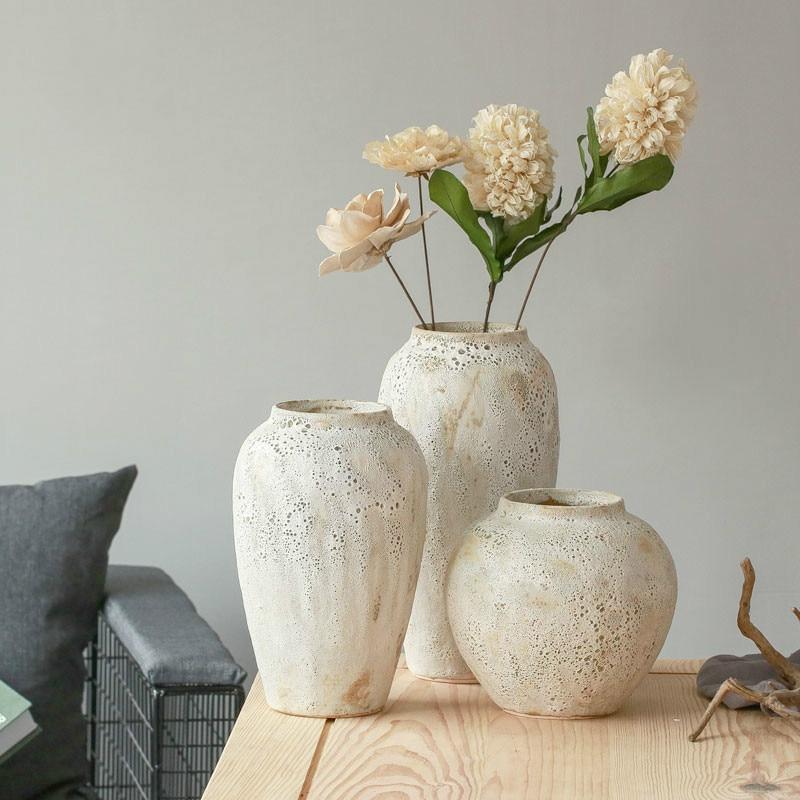Modern japanese style ceramic coarse pottery vase pastoral for Vasi giapponesi