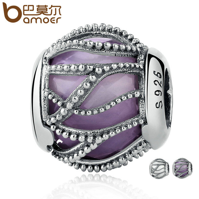Sterling Silver Intertwining Radiance CZ Beads Charm