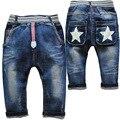 3733 pequeño harem jeans bebé niños pantalones cruzados niños dril de algodón suave azul marino primavera otoño de los niños pantalones casuales pantalones