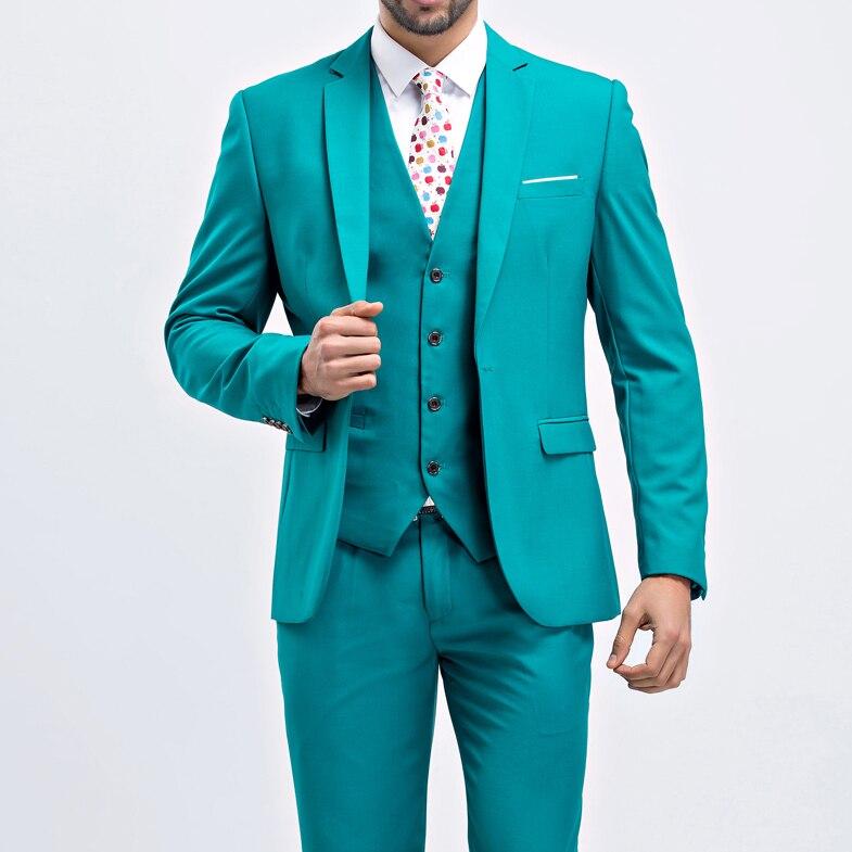 Custom made fashion mens suits wedding groom 9 colors solid wedding suits for men 3 peice (jacket+vest+pant) 7XL 8XL 9XL 10XL