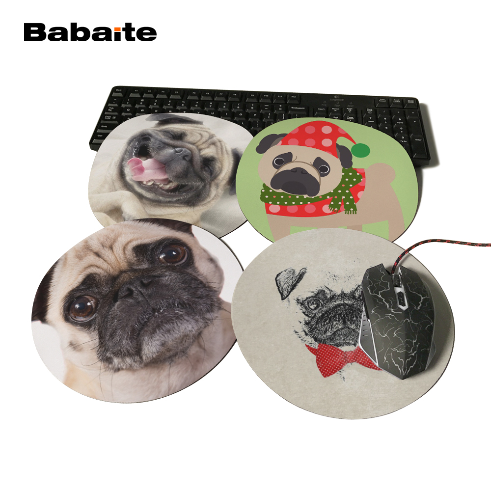 BabaiteFashion Vintage Black White Puppy Dog Style Rubber Optical Mousepad PC Computer Notebook Gaming Mice Play Mat Size22x22cm ...