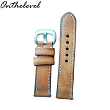 Onthelever leather retro handmade strap high leather 20mm/22mm first layer cowhide handmade color retro strap feel super leather
