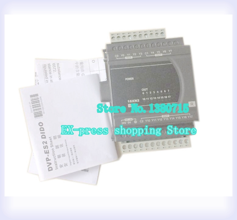 New Original DVP16XN211R PLC Digital module ES2 series 24VDC 16DO Relay output new original dvp40eh00r3 delta plc eh3 series 100 240vac 24di 16do relay output