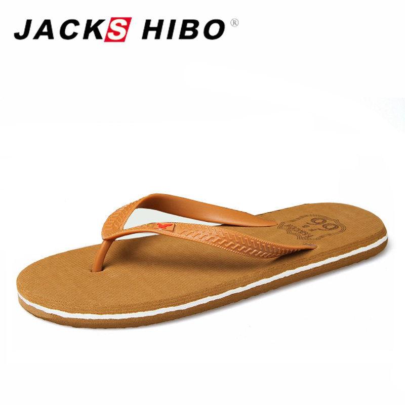 JACKSHIBO 2017 Fashion Simple Design Men Flip Flops Spring Summer Wear Comfortable Soft Sole Beach Slippers Male Sandal 7-9.5 цены онлайн