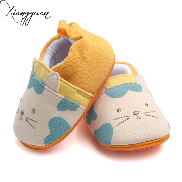 5fefc8245db3 New Cute Cat Pattern Baby Shoes TPR Soft Sole Baby Girl Boy First Walking  Shoes For 0-15 Months