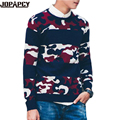 Male Camouflage Pullovers O-Neck Printed Long Sleeve Slim Fit Sweater Men 2017 Autumn Fashion Cotton Pull Homme MXD0182