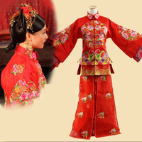 1d9257a44 Republican Period Qing Dynasty Princess Bride Costume Hanfu Traditional  Chinese Wedding Costume Stage Performance Xiu He